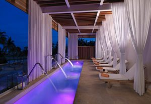 The serene Yhi spa pool at the Paradisus Los Cabos hotel