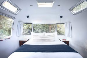 AutoCamp is set in a grove of Redwood trees 90 minutes from San Francisco.