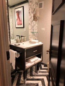 Guestroom bathroom at WestHouse New York