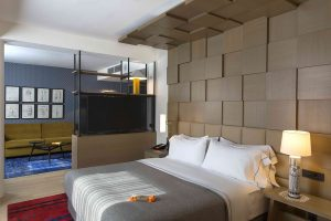 A king guest room at the new Canopy by Hilton Zagreb