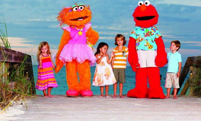 Kids have Emo and other Sesame Street characters to hang out with while Mom and Dad enjoy the spa