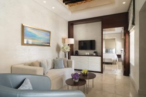 A junior suite at Souk Al Wakra Qatar Hotel