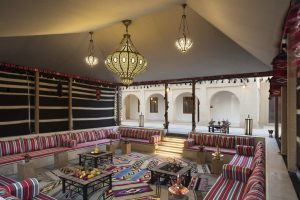 Majlis, or traditional private meeting areas, at Souk Al Wakra Qatar Hotel