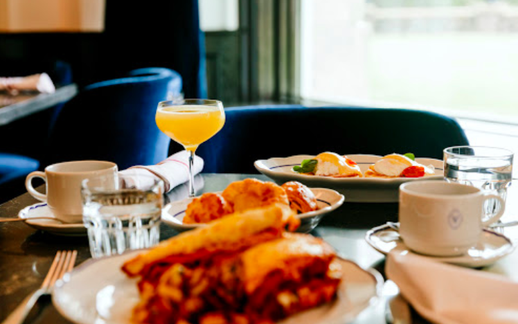 Yummy breakfast options at The Vermillion Room at the Fairmont Banff Springs hotel