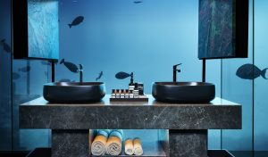 THE MURAKA's underwater ensuite bathroom