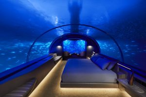 THE MURAKA's underwater bedroom/