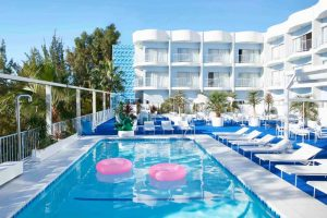 Enjoy life around the pool at The Standard Hollywood hotel with fabulous views of the Hollywood Hills
