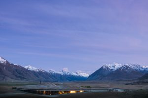 The Lindis lodge in New Zealand blends with its natural backdrop