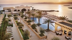 The pool at Jordan's Al Manara hotel