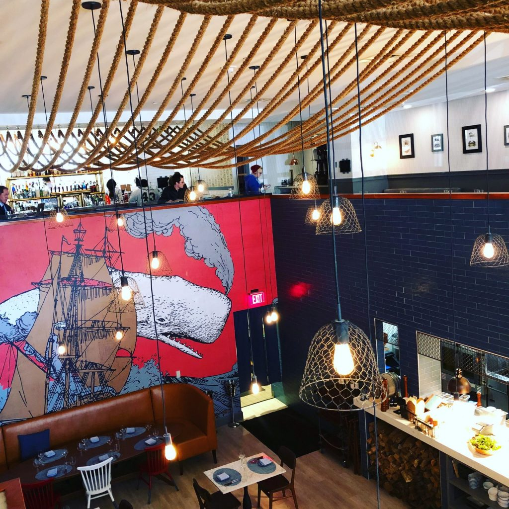 The Distrikt Hotel's restaurant, Or, The Whale