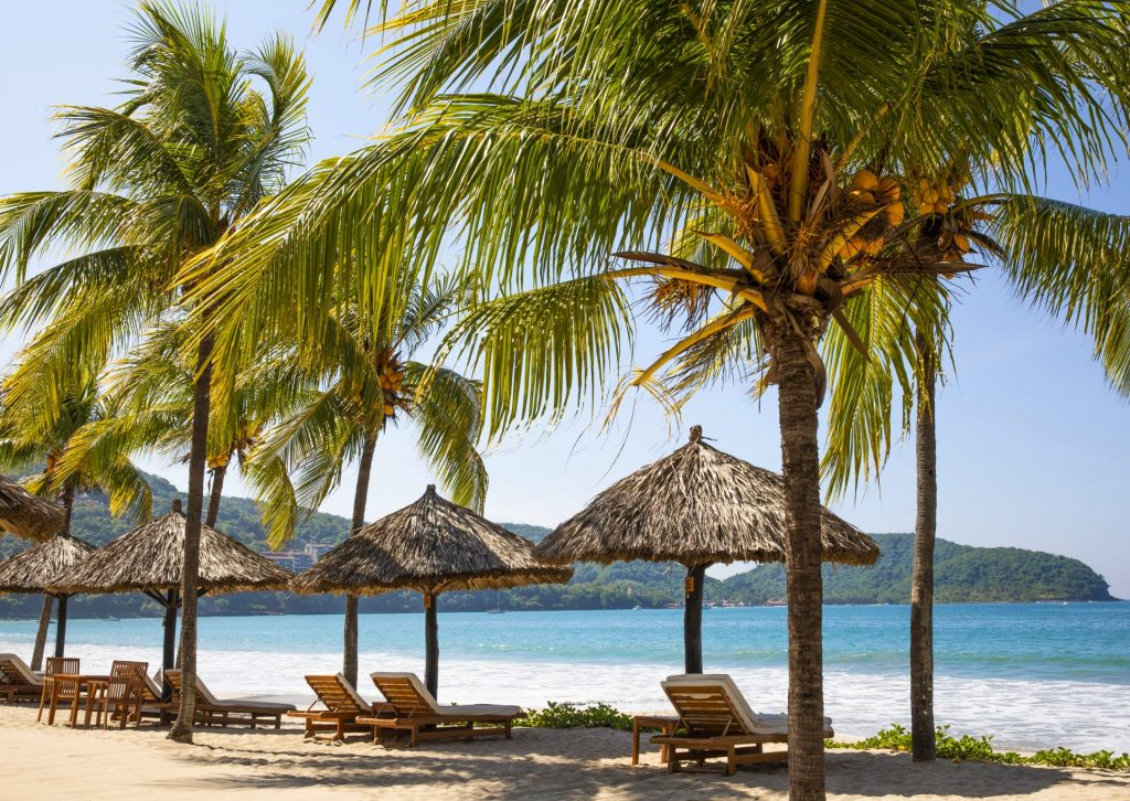 Beach Palapas at Thompson Zihuatanejo