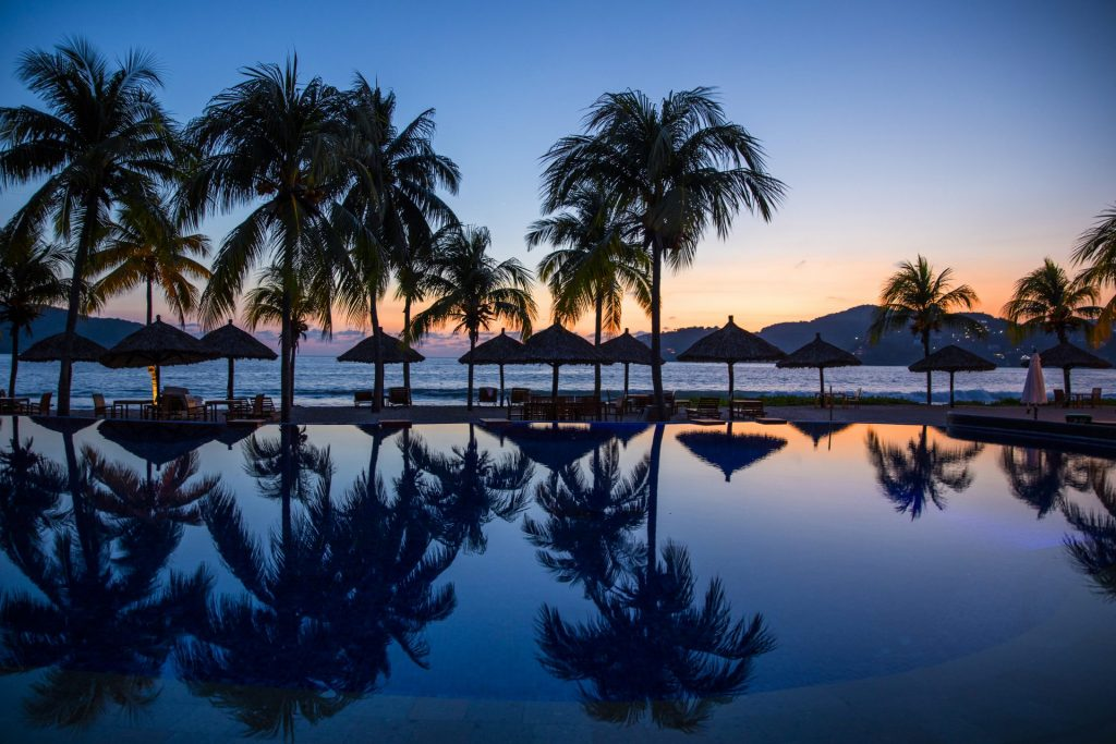 View from Infinity Pool at Thompson Zihuatanejo, Mexico