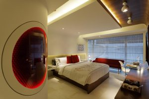 One of The Park Hyderabad's 263 rooms in India.