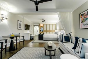 A Junior Suite at Fairmont Royal Pavilion