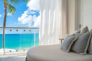 Day lounger in one of the rooms at Fairmont Royal Pavilion in Barbados