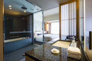 Guest room bathroom at Capitol Hotel Tokyu Tokyo