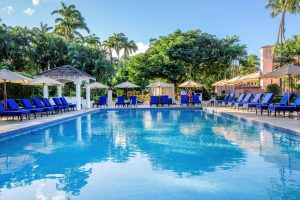 The pool at Fairmont Royal Pavilion in Barbados