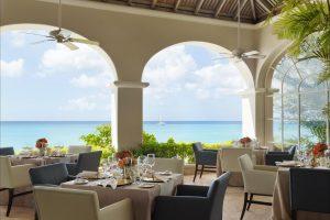 Palm Terrace restaurant at Fairmont Royal Pavilion in Barbados serves breakfast