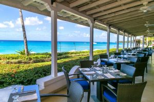 Taboras is the main bar and restaurant at Fairmont Royal Pavilion in Barbados