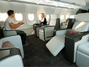 Interior of new Four Seasons Private Jet