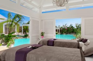 Eden Roc Cap Cana hotel in Punta Cana new Solaya Spa pool massage